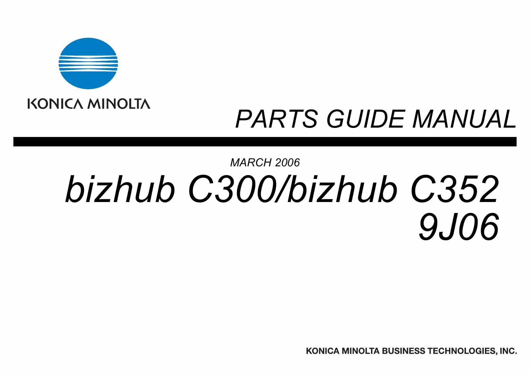 konica minolta bizhub c300 bizhub c352 service repair manual rh 4free articles com Bizhub C552 Bizhub C360